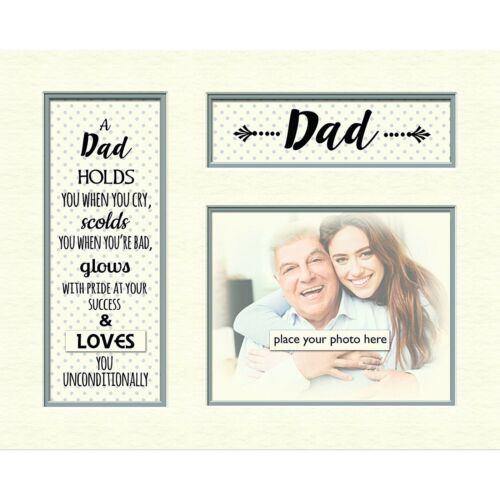 """Dad Contemporary Mount Father/'s Day Gift Suitable For Photo Frame 10/"""" x 8/"""""""