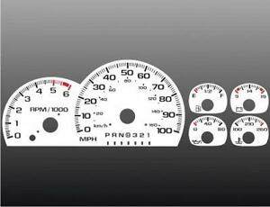 1996 Chevrolet Truck Dash Cluster White Face Gauges 95-98