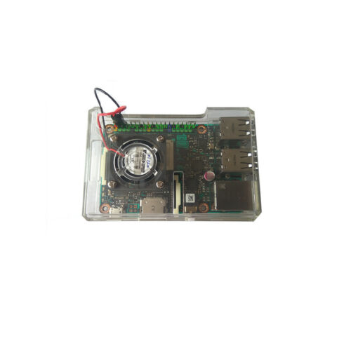 Fan For ASUS Tinker Board Raspberry Pi 3//3B Clear Enclosure Box  Case Cover
