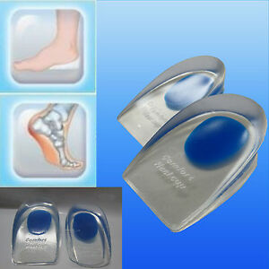 4f0e1dc3d6 Pure Silicone Gel Blue Spot Heel Cups to treat Plantar Fasciitis ...