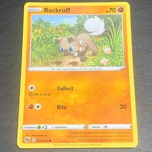 Pokemon Champion's Path Set COMMON Rockruff 029/073 - Near Mint (NM) Condition