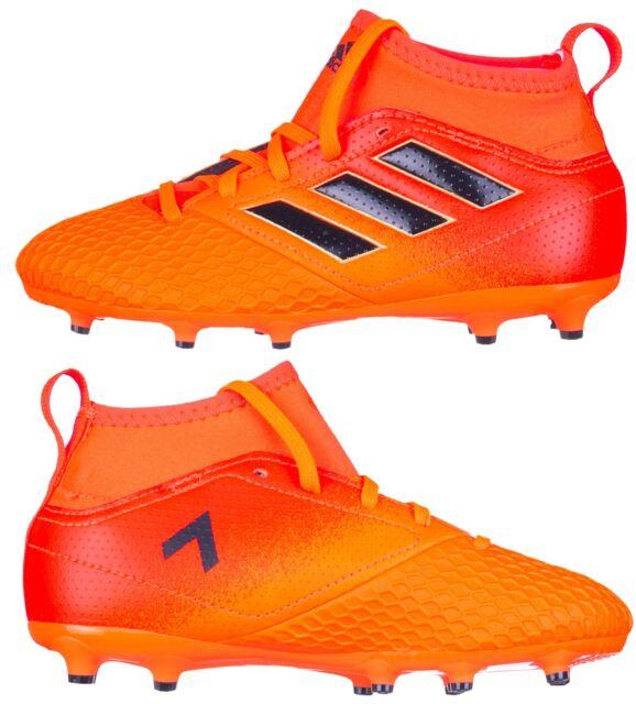 efef7528076 adidas Performance Boys Kids ACE 17.3 Firm Ground J Sports Football Boots  Orange