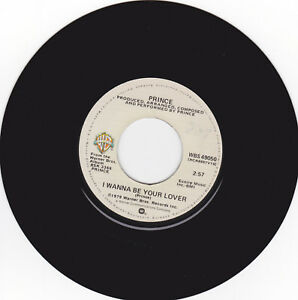 PRINCE-I-wanna-be-your-lover-Warner-Bros-Records-WBS-49050-US-45-ex