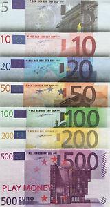 73-Scheine-SPIELGELD-Play-Money-EURO-EUROscheine-Geld-Geldscheine-fuer-Kaufladen