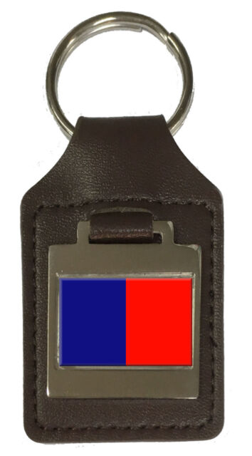 Leather Keyring Engraved Cagliari City Italy Flag
