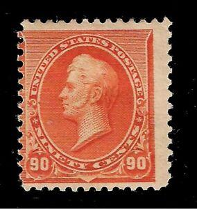 US-1890-Sc-229-90-c-Orange-PERRY-Mint-HR-Crisp-Color