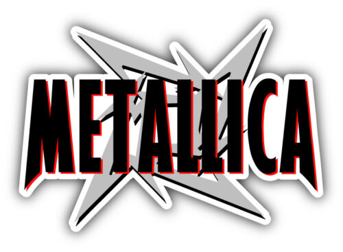 "3/"" Metallica argent voiture autocollant Decal 5/"" ou 6/"""