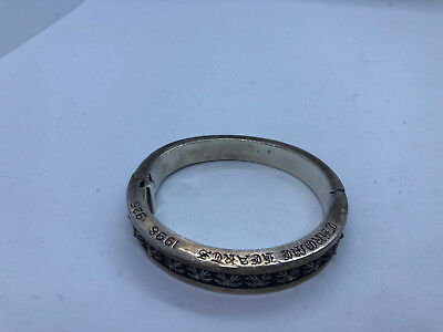 Chrome Hearts Open Cuff Solid Sterling Silver Bracelet