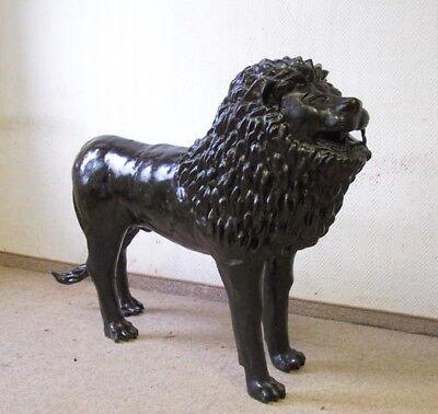 Sporting Große Löwenskulptur Bronze Skulptur Tier Dekofigur Lustrous Surface Other