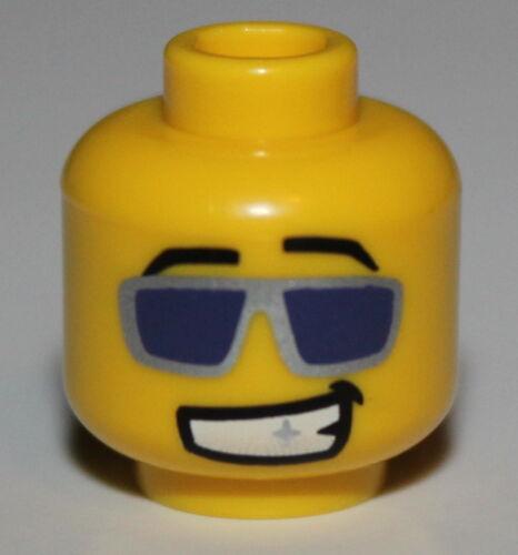 Lego Yellow Head w// Purple Sunglasses Silver Frames Disco Dancer