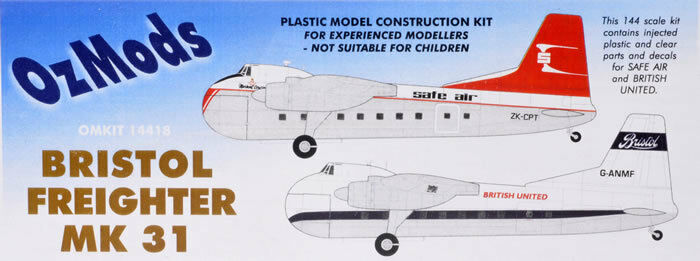 1 144 Cold War Transport   Bristol Freighter Mk31 [Safe Air & BUA]  OZMODS