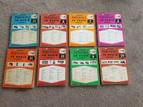 Vintage Sams Photofact CB Radio Series Service Manuals