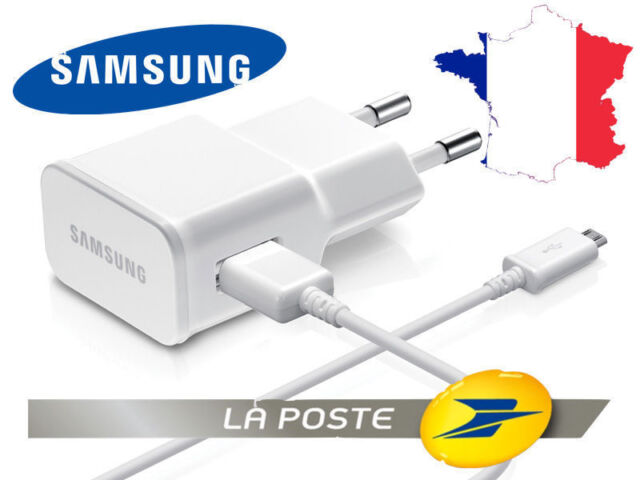 Chargeur cable secteur SAMSUNG ORIGINE Galaxy A8 A9 Express Tab 3 4 A E J S S2