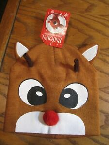Rudolph The Red Nosed Reindeer CLARICE  Knit Hat Beanie NEW Christmas