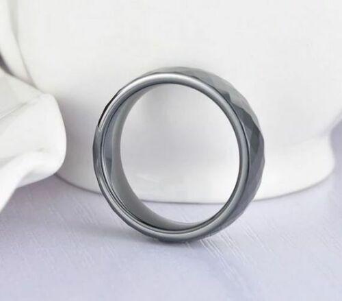 19 Ring Schwarz Keramik 6 mm Breit