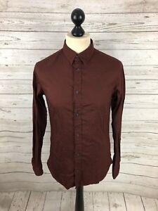 ALLSAINTS-Shirt-Size-XS-Burgundy-Great-Condition-Men-s