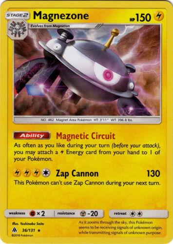 36//131 Holo Foil Pokemon Forbidden Light Magnezone