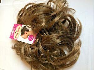 Chouchou-Cheveux-Bandage-Postiche-Chignon-Salissant-Extension-Marron-Moyen