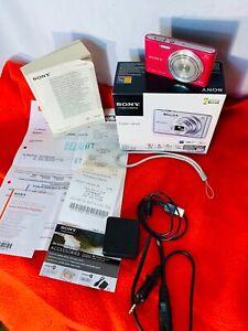 Original-SONY-CYBER-SHOT-DSC-W730-Digital-Kamera-Foto-pink-Sony-SF-16U-OVP