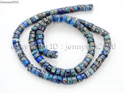Natural Sea Sediment Jasper Gemstone Heishi Loose Beads 16/'/' 4mm 6mm 8mm