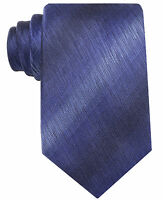 John Ashford Murano Sharkskin Men's Blue Solid Tie