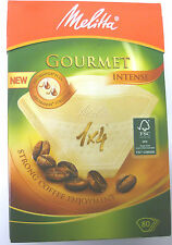 MELITTA GOURMET INTENSE 1 x 4 CUP 80 COFFEE FILTER PAPERS AROMAPOR PLUS  6687861