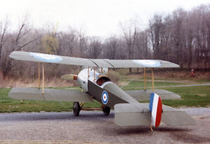 Details about 1/3 Scale WW1 Bristol Scout Giant Scale RC Model AIrplane  Printed Plans