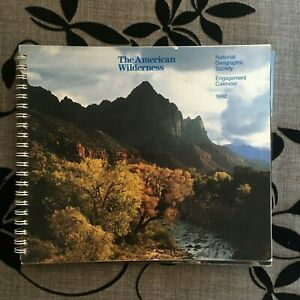 NATIONAL GEOGRAPHIC 1992 ENGAGEMENT CALENDAR. HAS SOME ...