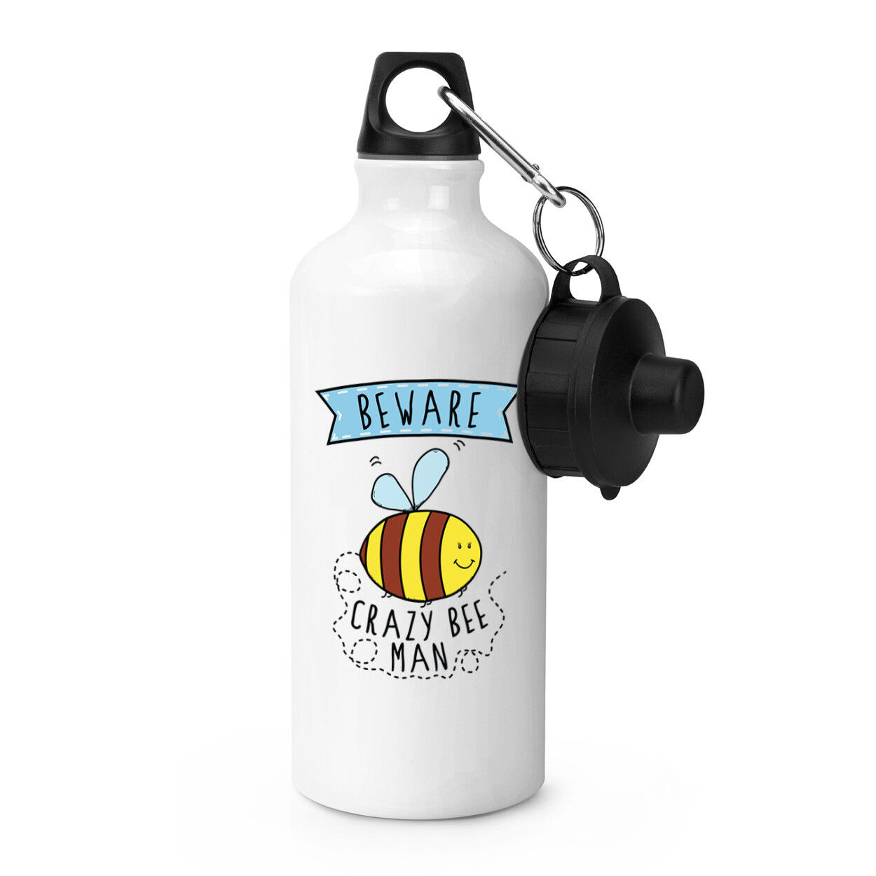 Beware Crazy Bee on Sports verres Bottle Bottle Bottle Camping-Funny Animal Cute Bumble 2026d1