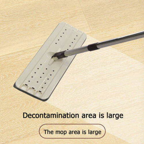 US Dry /& Wet Flat Mop Microfiber 4 Heads 360° Automatic Spin Dust Bucket