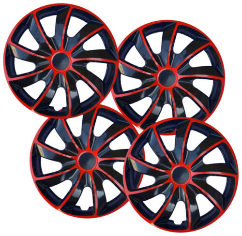 Set of 15/'/' Wheel trims hubcaps fit Vauxhall red black