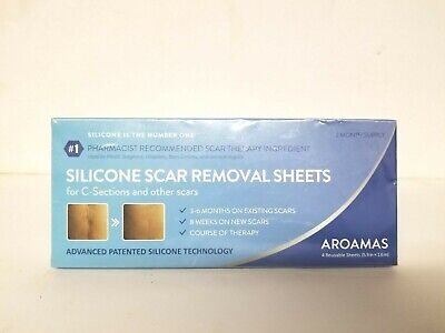 4 pc Aroamas Silicone C-Section Scar Removal Sheets 5.9x1 ...