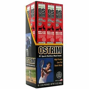 Ostrim Beef/Elk Snack Stick, Teriyaki, 1.5 Ounce (Pack of 10) - FREE SHIPPING!