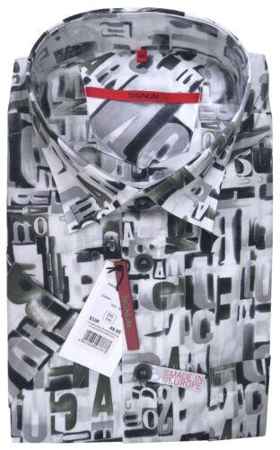 SONDERANGEBOT Gr Baumwolle SIGNUM Hemd Kurzarm Comfort NEU M S3.0206