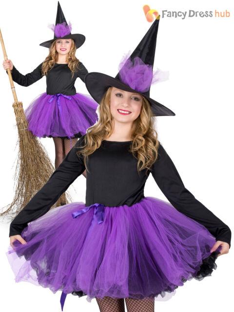 Girls Witch Dress Hat Accessory For Halloween Oz Eastwick Fancy Dress 116cm 4 5yrs For Sale Online Ebay