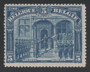 BELGIUM-YVERT-147-034-ALBERT-1er-IN-FURNES-5FRANKEN-BLUE-1915-034-MNH-VF-C887