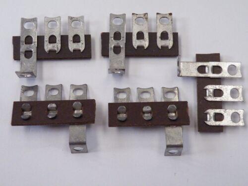 5 Pcs 3W Pole Paxolin Tag Strip Vintage Electronics 1 Earth 2 Isolated Tag CE13