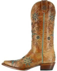 6ae3f93fe New Shyanne Women's Daisy Mae BBW12 Tan Leather Western Boots 10 B ...