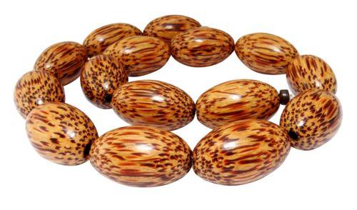 26x16 mm madera perlas naturales perlas h.ko-21 Kokospalmholz perlas grandes aceitunas aprox