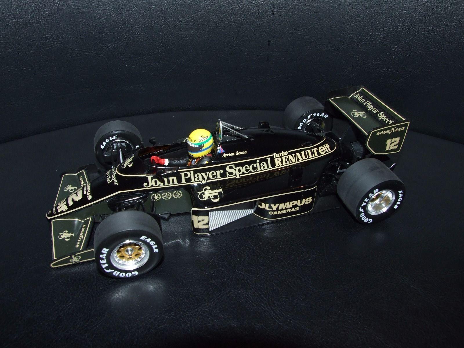 Ayrton Senna Lotus 97T 1985 1 18 Minichamps JPS F1