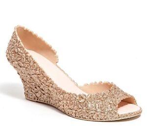 651c263b726 Details about Lady Couture Women's Joy Open Toe Wedge Sandals Shoes  Champagne Size EUR 37