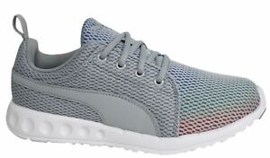 Puma-Carson-Prism-Lace-Up-Womens-Grey-Textile-Trainers-189023-02-D32