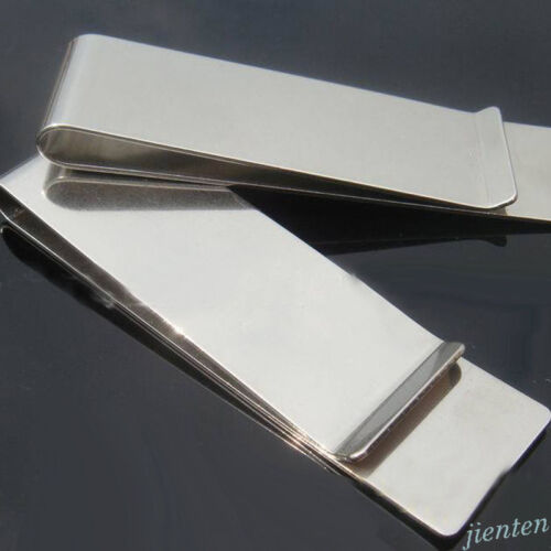 Multifunction Silver Aluminum Credit Card Photo Holder Money Clip Wallet Accs
