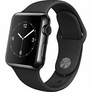 Apple Watch Series 2 38mm Space Black Case Black Sport Band Ebay