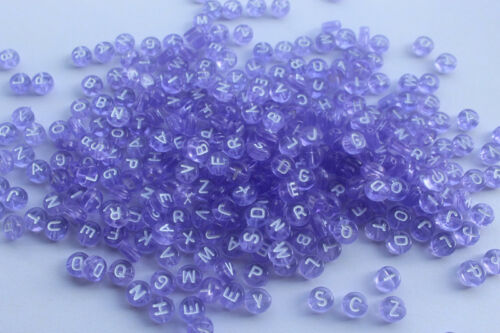 Hot Sale 100-500 PCS 4x7mm Mixed Alphabet//Letter Acrylic circular Beads choose