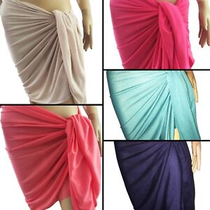 e00829e48e253 Beach SARONG Pareo Wrap skirt Swimwear 180x85 Cruise Resortwear pink ...