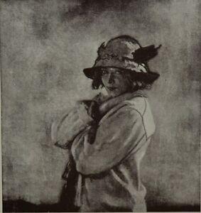 Lady Black Wrap Hat Flowers 8x10 Print 2881 Portrait of Grace by William Orpen