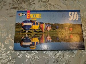 New-Roseart-Encore-500-piece-jigsaw-puzzle-Hot-air-balloons-reflected-in-water
