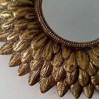 Joli petit miroir forme soleil style vintage Diam 21 cm années 50 60