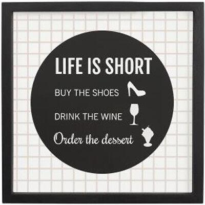 Life Is Short Plaque Sign Funny Door House Gift Idea Home Decor Room Wall Ebay